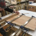 Gluing the book-matched table top